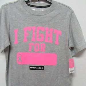 I Fight For Breast Cancer Shirt Girls New M 10 12